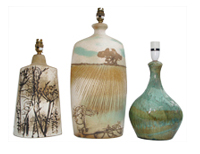 A selection of naturalistic lamp bases