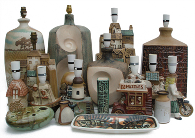 A selection of Tremaen pottery
